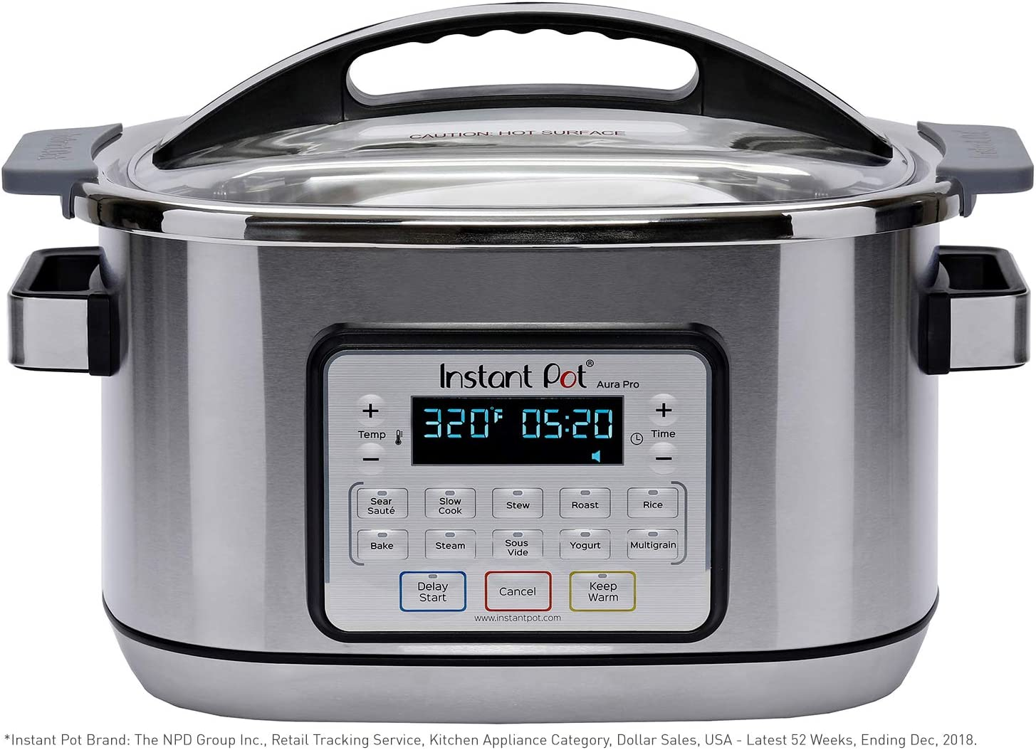 Instant Pot Aura Pro 11-in-1 Multicooker, Slow Cooker, Rice Cooker, Grain Maker, Steamer, Saute, Yogurt Maker, Stew, Bake, Roast, and Warmer|8 Quart|11 One-Touch Programs