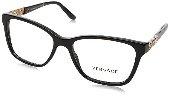 Amazon.com: Versace VE3192B Eyeglass Frames GB1-54 - Black VE3192B ...