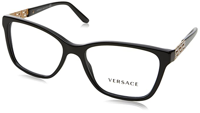 3f8567cf6c1 Amazon.com  Versace VE3192B Eyeglass Frames GB1-54 - Black VE3192B ...