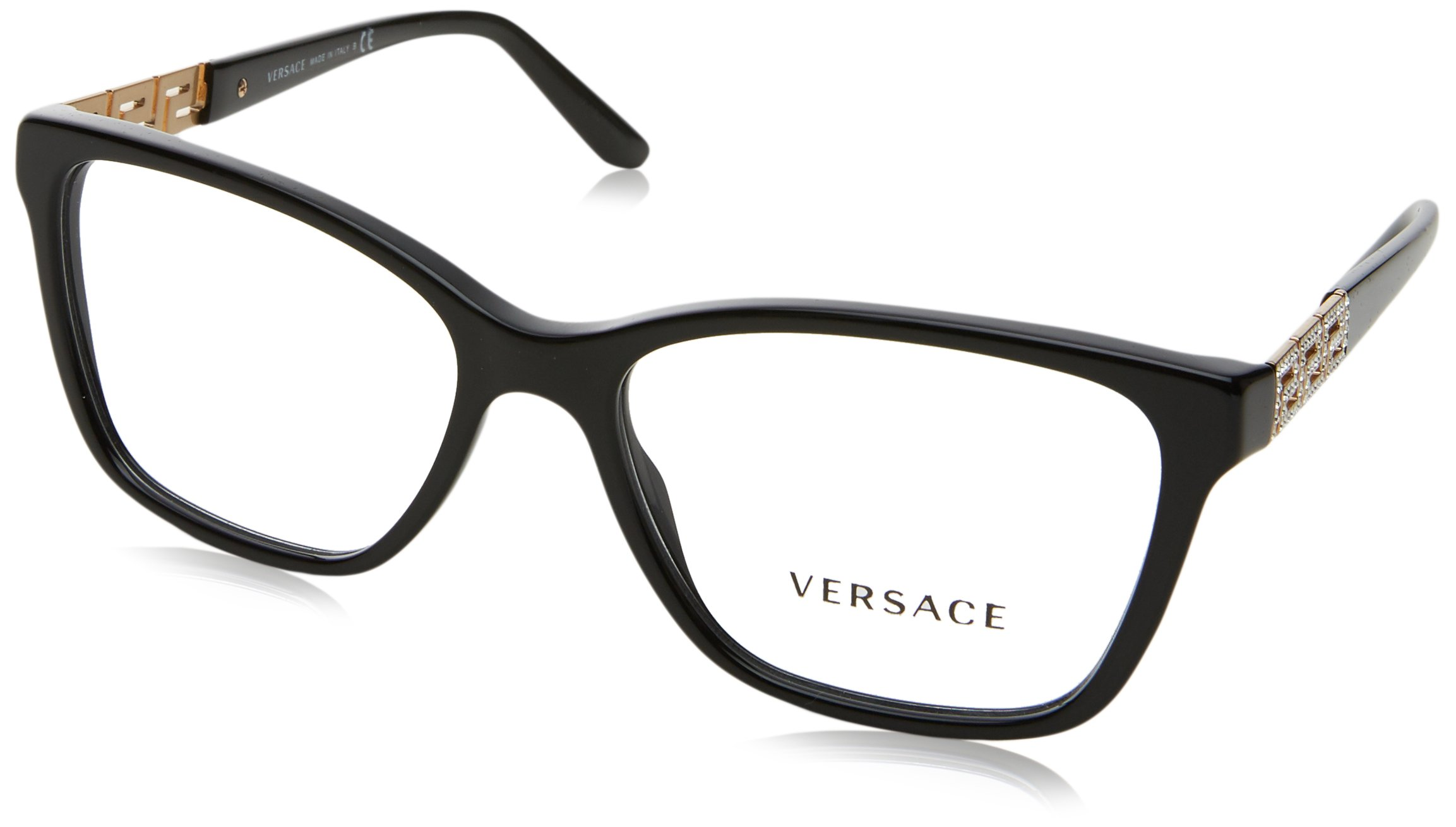 Versace VE3192B Eyeglass Frames GB1-54 - Black VE3192B-GB1-54 by Versace