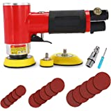 Autolock Mini Air Sander, 1/2/3 Inch Random Orbital Air Sander, Mini Pneumatic Sander for Auto Body Work, High Speed Air…