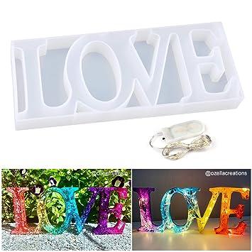 Amazon.com: Moldes de silicona de resina para decoración de ...