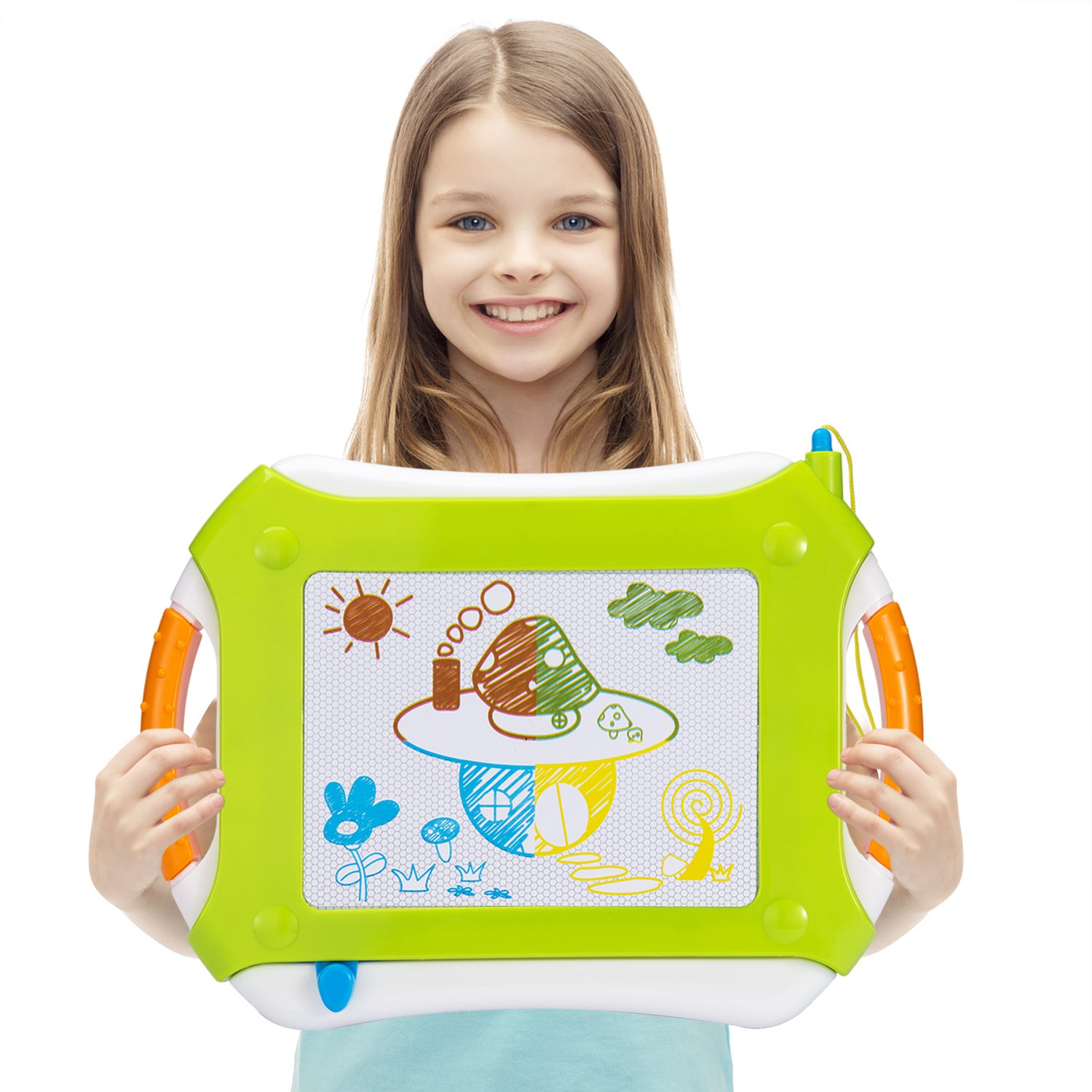 Vamslove Magnetic Drawing Board, Kids Toys Erasable Magna Doodle Pad Colorful Travel Writing Sketching Board - Learning Educational Gifts Toys Kids Boys Girls Toddlers Age 3 4 5 6 7 + Years Old