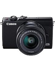 Canon EOS M100 SLR Digitalkamera (24,2 MP, Dual Pixel CMOS AF, DIGIC 7, Full HD, Touchscreen, WIFI, Bluetooth) schwarz