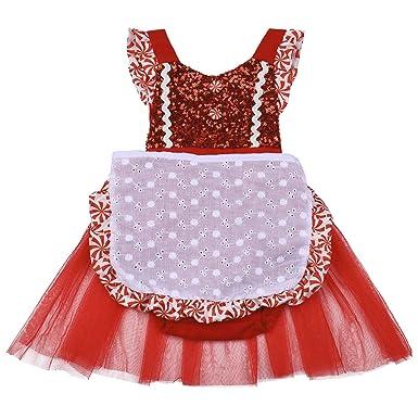43bdbf282 My 1st Christmas Newborn Toddler Baby Girls Shiny Sequin Backless Romper  Dress Pleated Ruffle Tulle Skirt