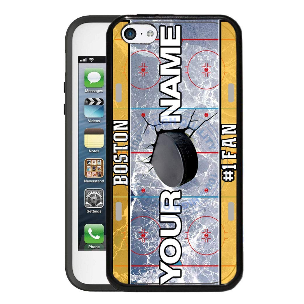 BRGiftShop Personalize Your Own Hockey Team Boston Rubber Phone Case For Apple iPod Touch 5th & 6th Generation
