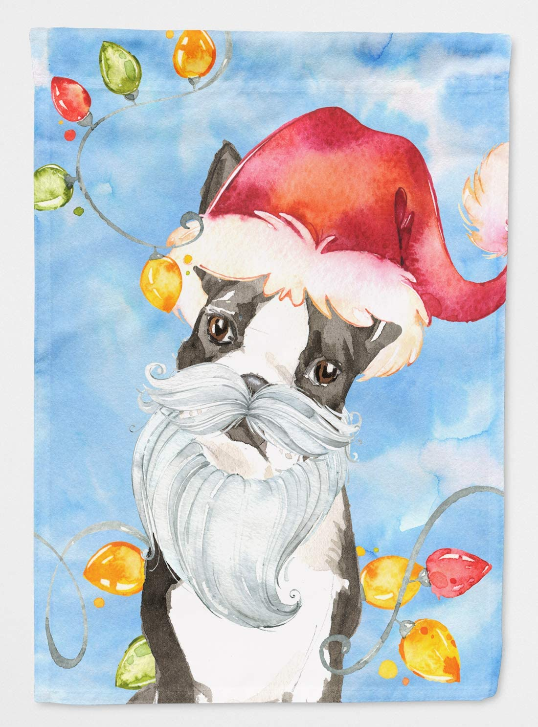 Caroline's Treasures CK2473GF Christmas Lights Boston Terrier Flag Garden Size, Small, Multicolor