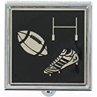 Rugby Theme Pill Box With Presentation Pouch- A Beautiful Gift For All Rugby Lovers (PB335)