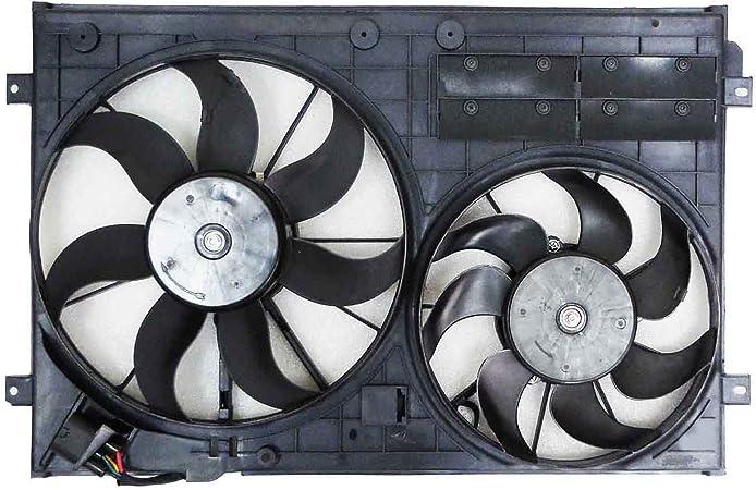 Dual radiador y condensador Ventilador vw3115119 para Volkswagen ...