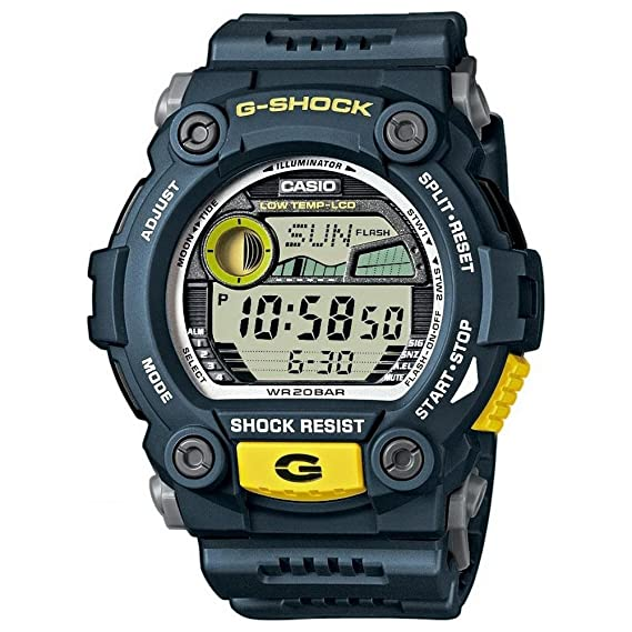 Casio G-7900-2ER - Reloj digital de cuarzo para hombre con correa de resina, color azul: Amazon.es: Relojes