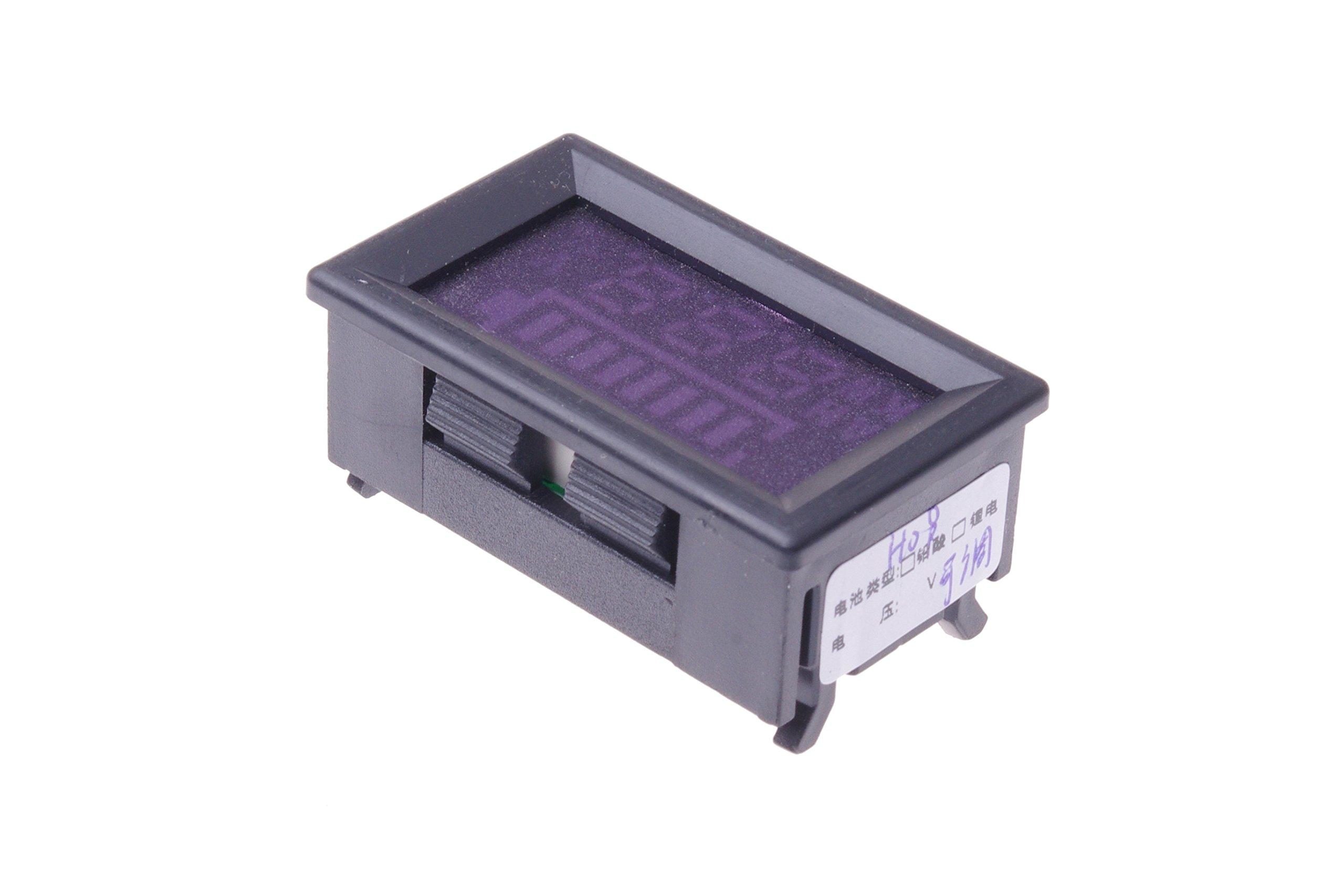 SMAKN DC 12v 24V 36V 48V 60V 72V 96V Acid lead batteries percentage capacity indicator LED Tester voltmeter With TTL OUTPUT by SMAKN (Image #9)