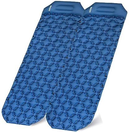 Amazon.com: Binffeey - Colchoneta de dormir hinchable para 2 ...