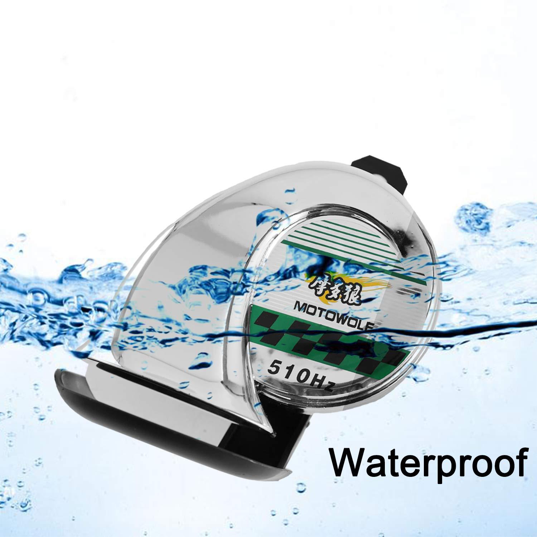 Air Horns for Trucks Cars Motorcycle Boat 12v Waterproof Alarm Siren Speaker 110dB