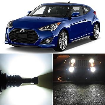 Alla Lighting 2x Super Bright 6000K Xenon White H8 H8LL LED Bulbs for Fog Light Lamps