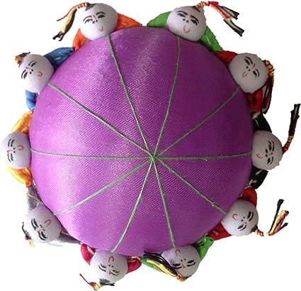 Magenta Rimobul Oriental Needle Pin Cushion with 10 Kids