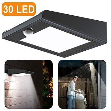 30 LED Solaire Lumière pour Extérieur, Solaire Détecteur de ...