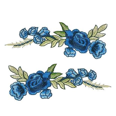 d66694c01 Parche decoración 2pcs flor del bordado Sombrero elegante de la costura Bolsa  Jeans apliques Crafts accesorios