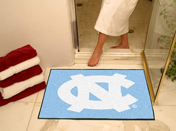 FANMATS NCAA UNC University of North Carolina Chapel Hill Tar Heels Vinyl Door Mat