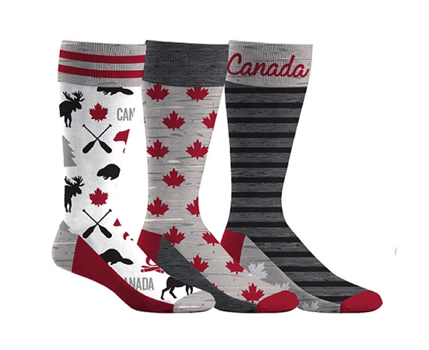 Men's Canada Beaver & Moose Dress Socks 3-Pack Academy