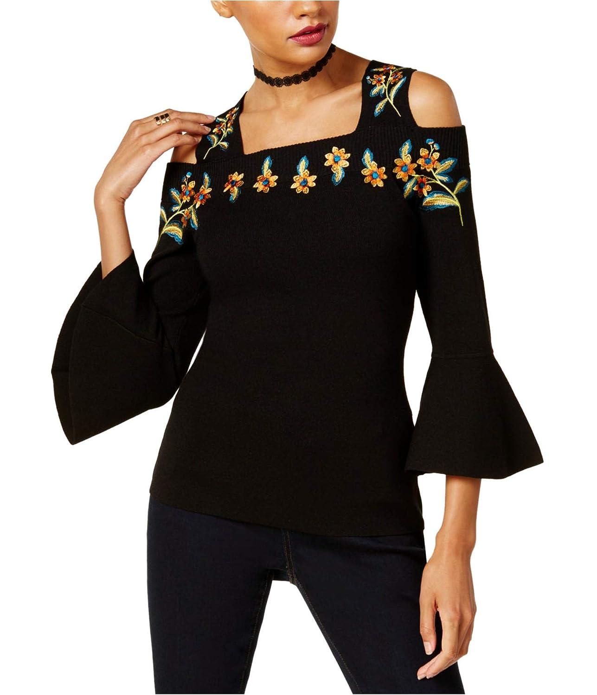 Deepblack INC Womens Cold Shoulder Knit Sweater