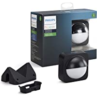 Philips hue Wireless installation Outdoor sensor Negro, Blanco - Iluminación inteligente (Negro, Blanco, IP54, Exterior, Batería, 2 Año(s), 76 mm)