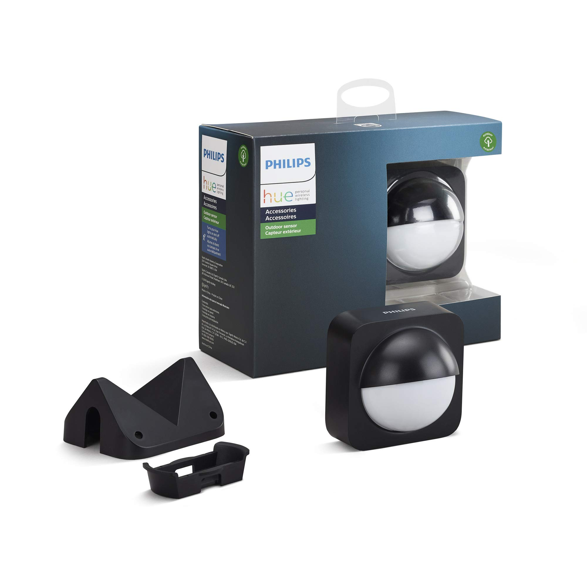 Philips Hue Dusk-to-Dawn Outdoor Motion Sensor for Smart Home, Wireless & Easy to Install (Hue Hub Required, for use with Philips Hue Smart Lights) by Philips Hue