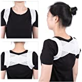 Back Posture Corrector, Breathable Elastic X Type Clavicle Shoulder Support Belt Prevent Humpbacked Correction Straighten Vest Suit for weight between 45-60kg People