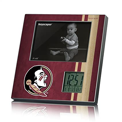 florida state seminoles picture frame desk clock licensed by the ncaa