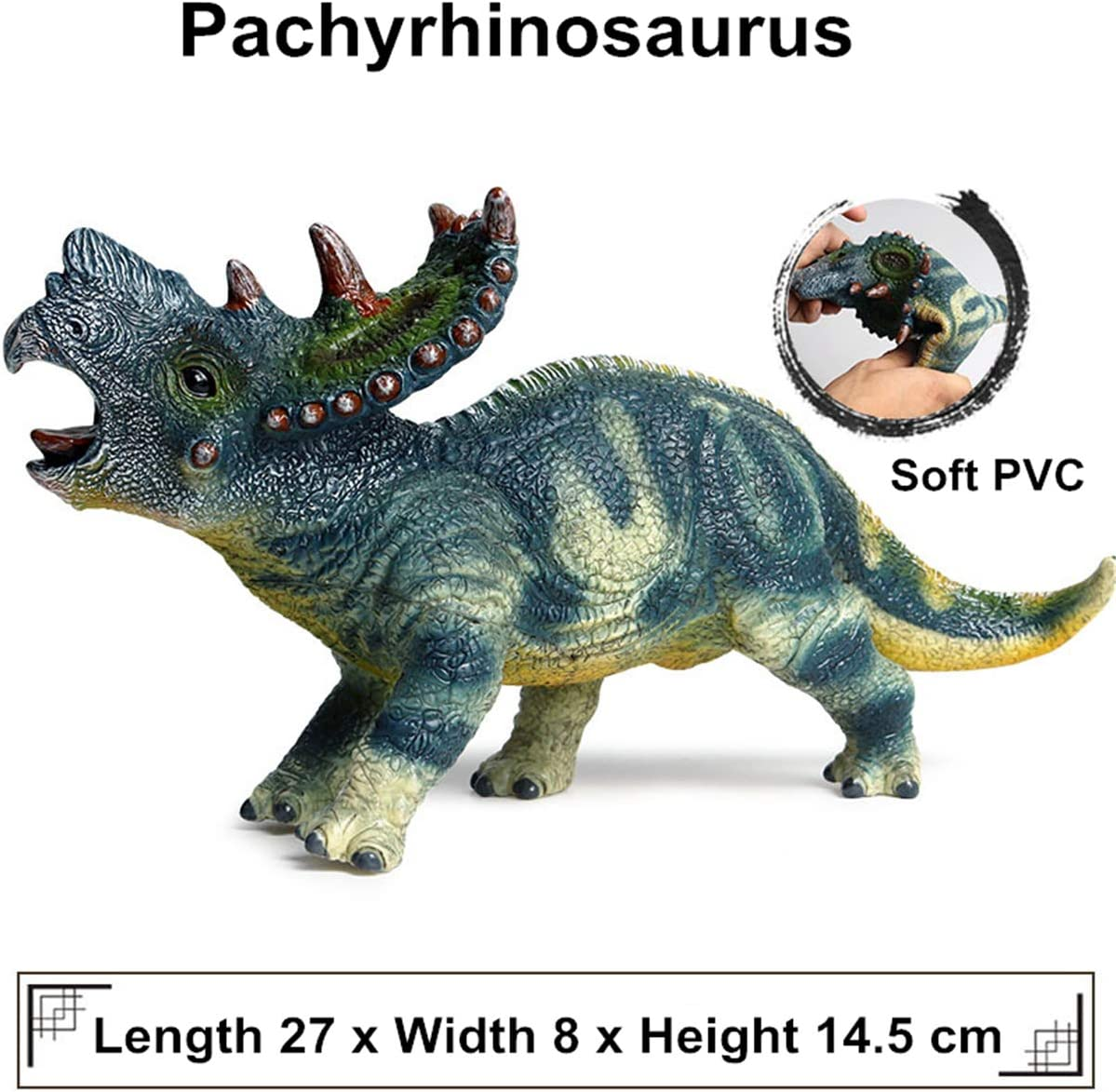 Spinops Jurassic Dinosaur collectors PNSO 1//35 realista 15 cm nuevo