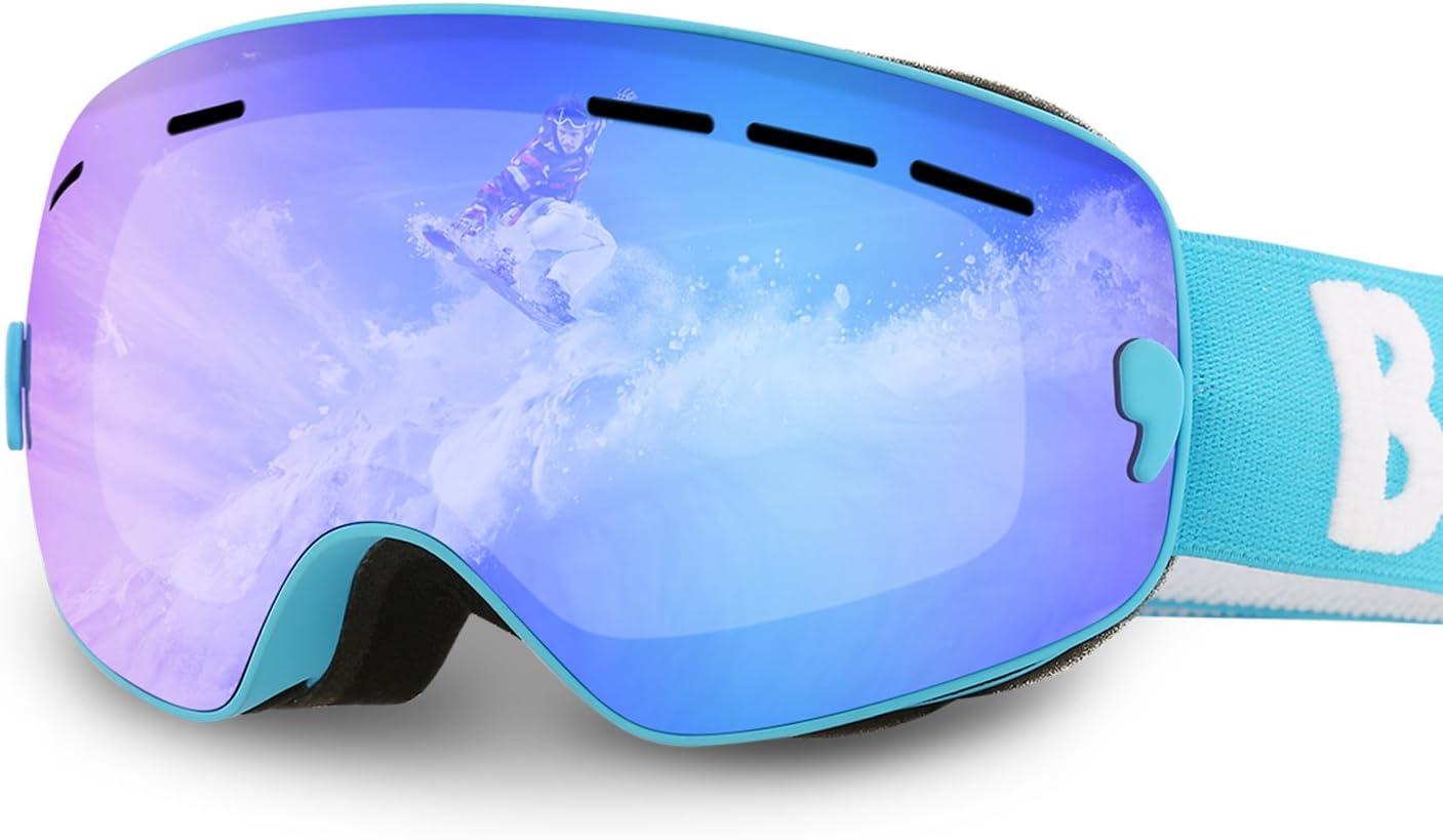 Benice Gafas de Esquí para Niños Máscara Facial Gafas Doble Anti-UV Lens Anti-Dust Anti-Sun Dust Gafas Protectoras de Deportes al Aire Libre para la Actividad al Aire Libre Bike Snowboard