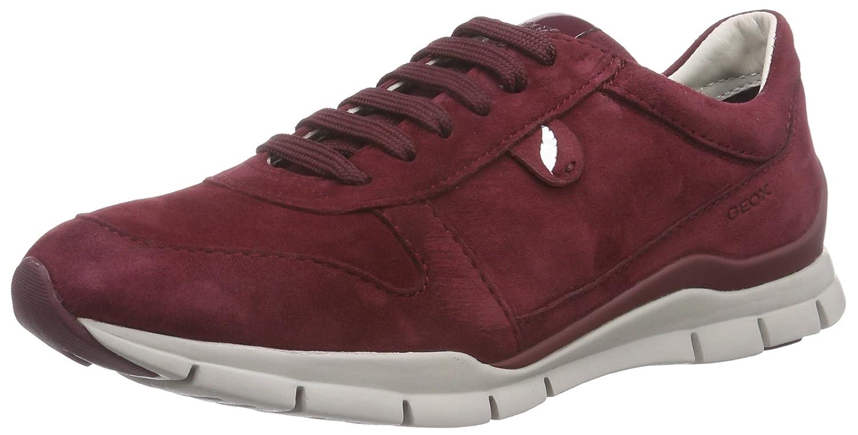 Geox D Sukie a, Zapatillas para Mujer 36 EU|Rojo (C7005 Bordeaux)