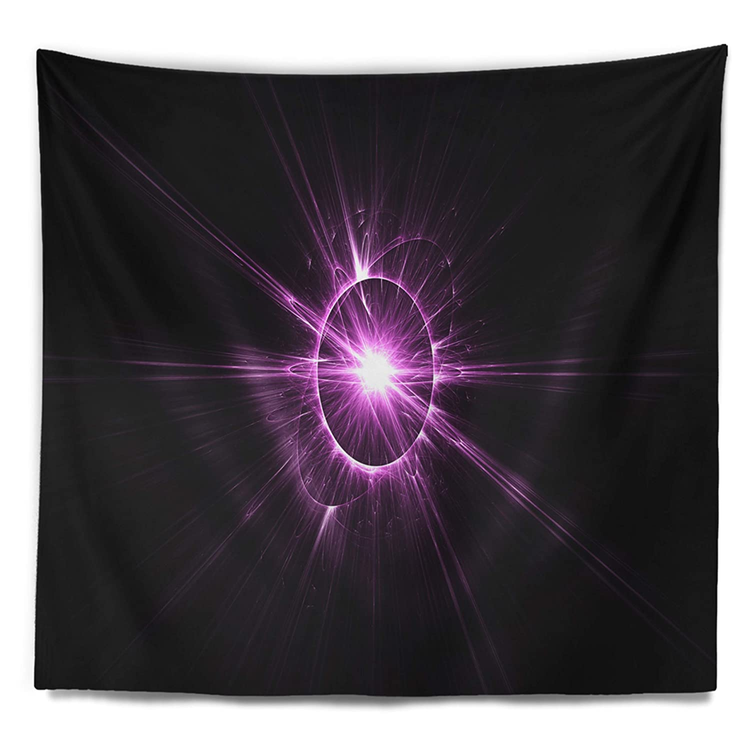 Designart TAP15546-60-50 Purple Flash of Bright Star Floral Blanket D/écor Art for Home and Office Wall Tapestry Large 60 x 50