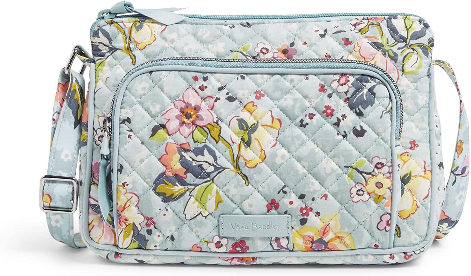 Vera Bradley Women's Signature Cotton Little Hipster Crossbody Purse with RFID Protection