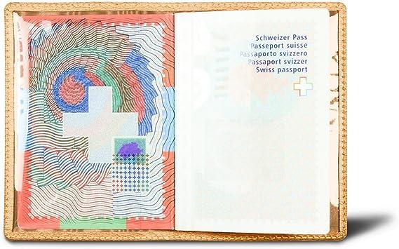 Lucrin - Funda universal para pasaporte - azafrán amarillo - Piel ...