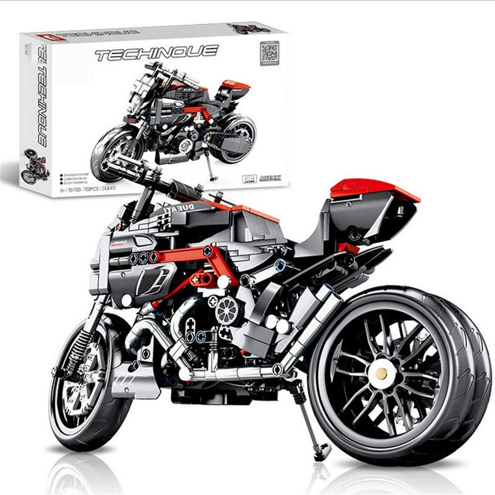 ZnMig Children 3-12 Years Old Children's Motorcycle Assembled Spell Insert Plastic Deformation Boy Toy Early Education Puzzle Building Blocks Toys (Color : Multi-Colored, Size : One Size)