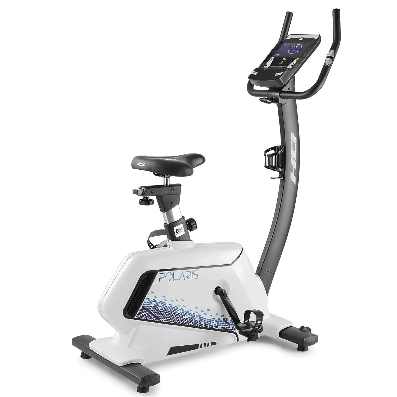BH Fitness Polaris TFT Heimtrainer Ergometer – bis 130 kg belastbar – pulsgesteuerte Programme – Schwungmasse 8 kg – robust und stabil – extra Komfort - H832TFT