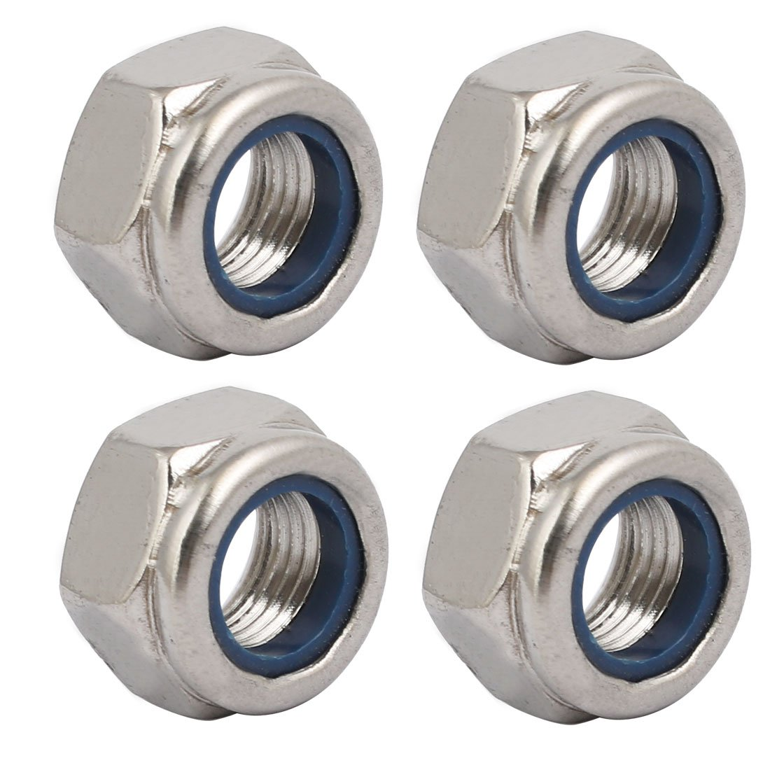 10 Pcs 304 Stainless Steel Hex Nuts M6 x 0.75mm Pitch Metric Fine Thread