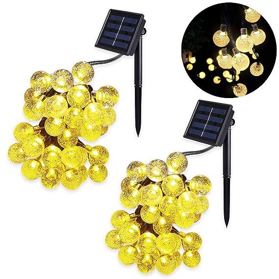 2 Stuck Solar Lichterkette Kristall Kugeln Mr Twinklelight Led