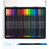 Fineliner Pens for Journaling No Bleed by Scribbles That Matter - 24 Colored Pens - For Bullet Journaling, Note Taking, Writi