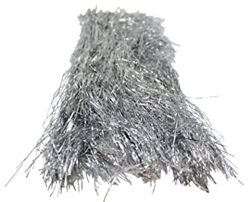 silver tinsel for christmas tree 18 inches 1000 strands icicles