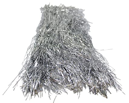 silver tinsel for christmas tree 18 inches 1000 strands icicles - Icicles For Christmas Tree