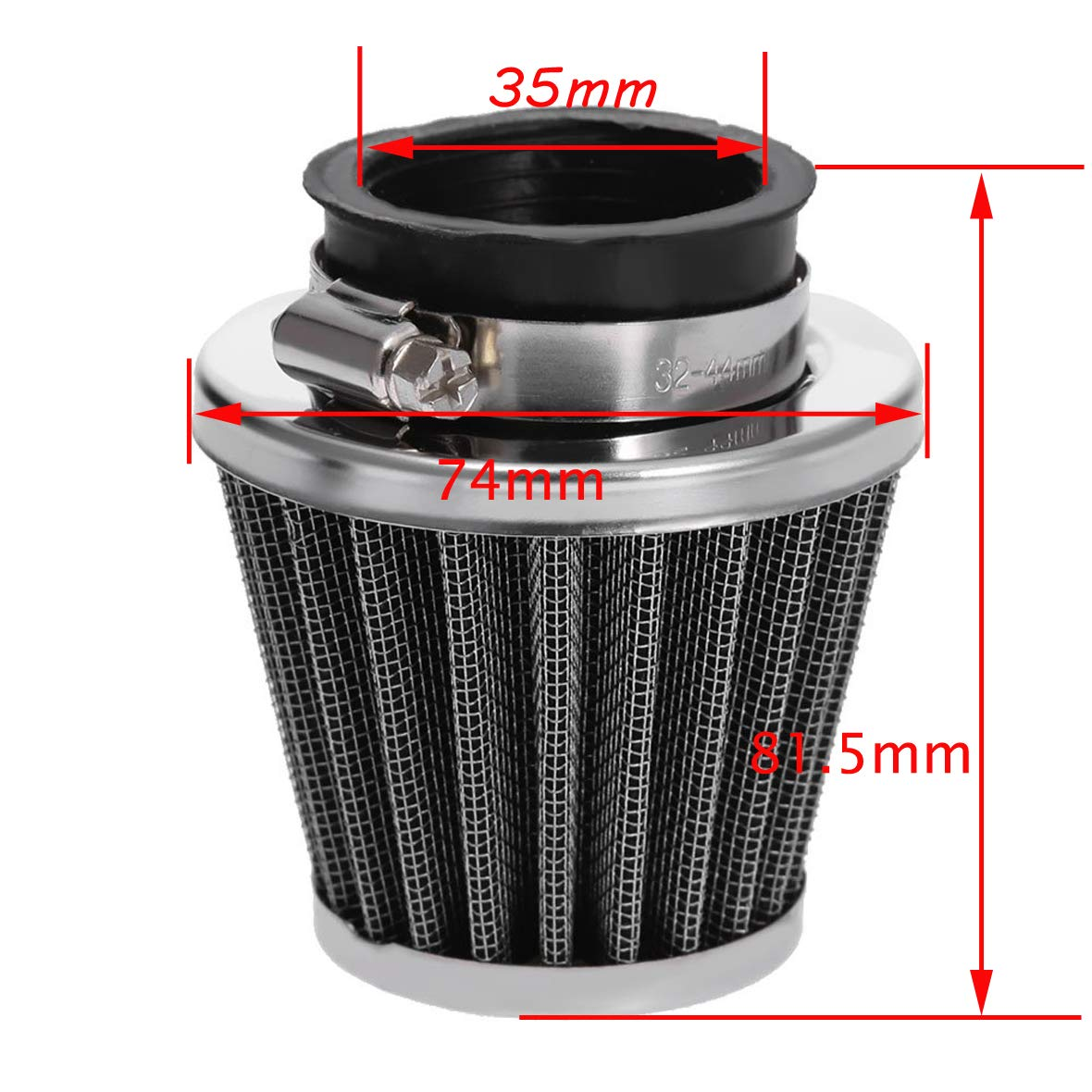 35mm air filter//gasket for 50cc 70cc 80cc 90cc 110cc 125cc ATV mud pit bike kart pocket bicycle Taotao Honda CRF New PZ19 carburetor