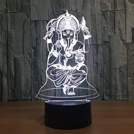 bea429d14522 Buy Lord Ganesha 3D LED Lamp Online at Low Prices in India - Amazon.in