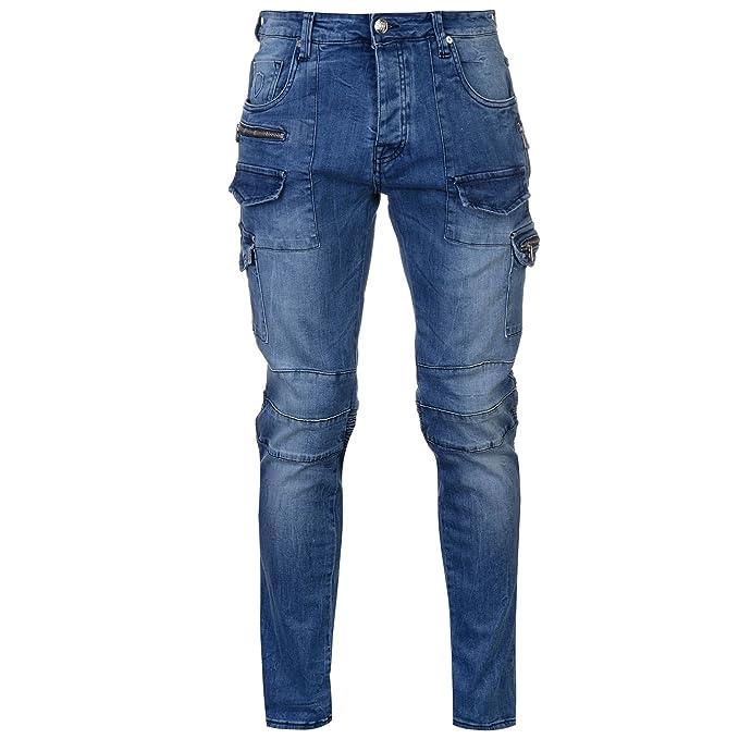Amazon.com: 883 Police Cassady MO 395 - Pantalones vaqueros ...