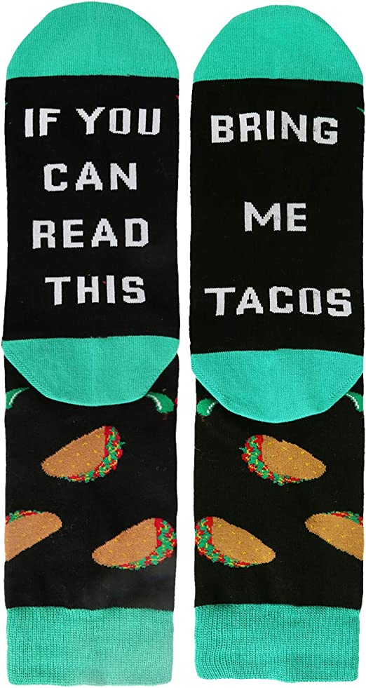 If You Can Read This Bring Me Coffee Funny Dress Socks Crazy Crew Xmas Gift Sock