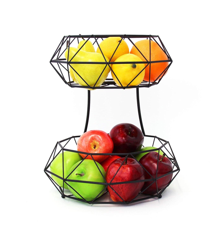 Elegance Vanderbilt Home Fruit Baskets in Black