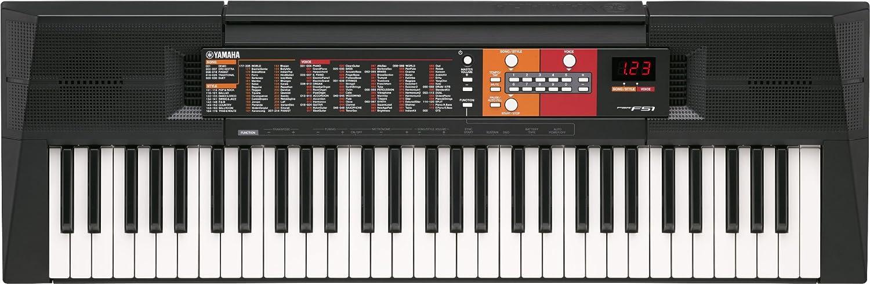 Yamaha PSR-F51 - Teclado portátil, color negro Yamaha Musical Instruments