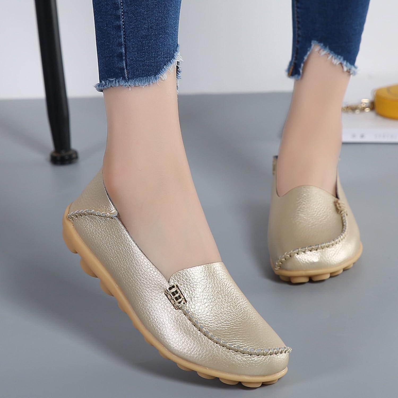 VenusCelia Womens Natural Comfort Walking Flat Loafer 11 M US,Gold