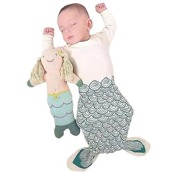 Casa Bebés Algodón Saco de dormir Súper Blando Recién Nacido Wrap Swaddle Manta estampado sirena S: Amazon.es: Ropa y accesorios