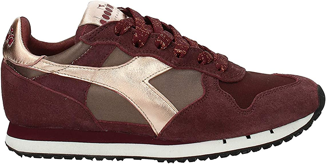 Diadora Heritage Trident W Low Satin Donna di Colore Viola Scarpe Sportive Donna Sneakers Made in Italy